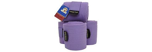 Cottage Craft Fleece Bandages Aubergine