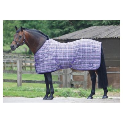 Masta PP Check Light Stable Rug Purple Check 6ft6