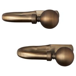 Pair of Metal Tiebacks Antique Bronze-Effect