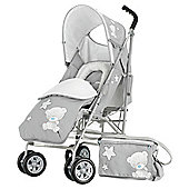 Obaby Tiny Tatty Teddy Atlas V2 Stroller Bundle, Grey
