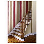 Arthouse Adelphi stripe red wallpaper