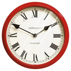 Jones & Co Picadilly wall Wall Clock Red