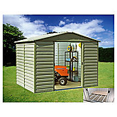 Yardmaster Metal 9'4x7'5 Shiplap Shed with floor support frame