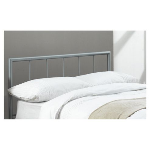 Chequers Double Headboard, Silver