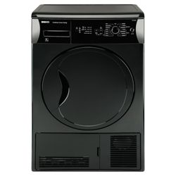 Beko DCU7230B Condenser Tumble Dryer, 7kg Load, B Energy Rating. Black