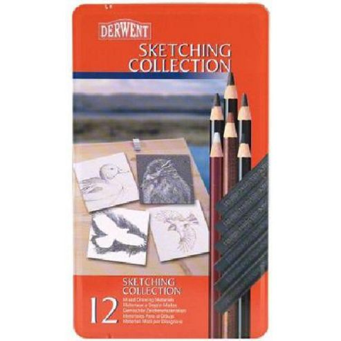 Derwent Sketching Colle 12 Tin