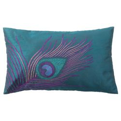 F&F Home Peacock Oblong Cushion