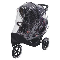 Phil & Teds Storm Double Raincover for Classic or Explorer pushchairs
