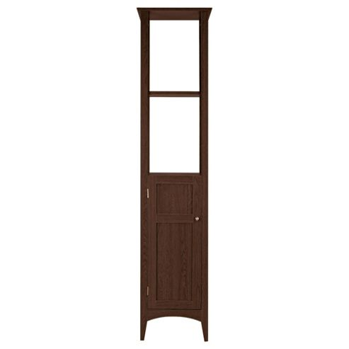 Buy portico dark wood tall boy from our bathroom standing for Bathroom cabinets tall boy