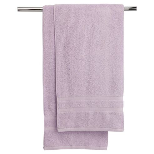 Tesco bath towel twin pack lilac