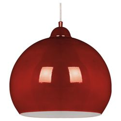 Tesco Lighting Skandia Metal Ceiling Fitting In Red Gloss Finish