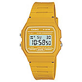 Casio Yellow Retro Digital Watch