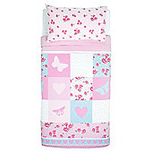 Tesco Kids Rose Patch Duvet Set
