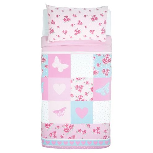 Tesco Kids Rose Patch Duvet Cover Set