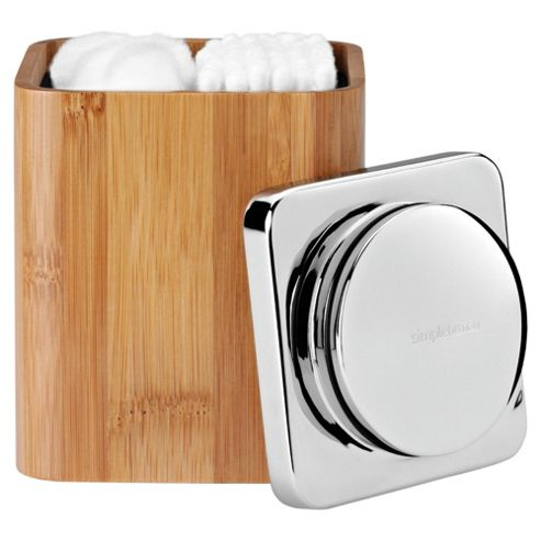 simplehuman Bamboo Cotton Bud Holder
