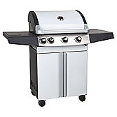 Alaska White 3 Burner Gas BBQ with Side Burner