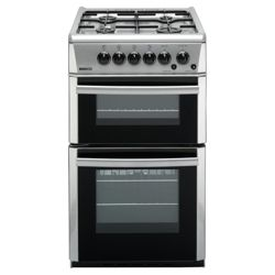 BEKO DVG592SP 50cm Gas Double Oven Silver