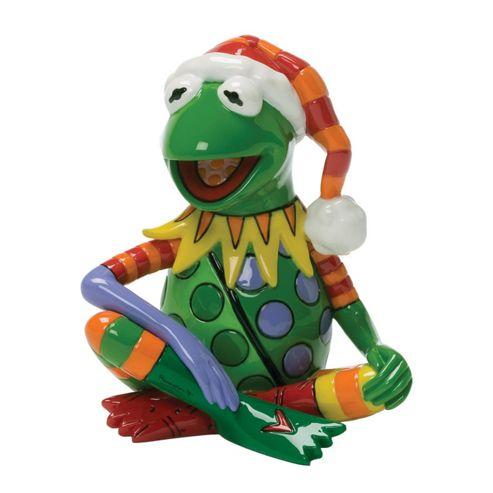 Enesco Disney Britto Kermit the Frog Mini Christmas Figurine.