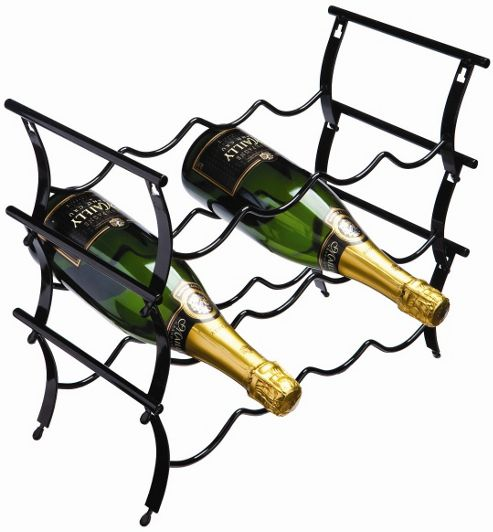 George Wilkinson 12 Bottle Winestak - Black