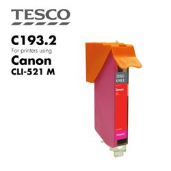 Tesco CLI521 Magenta Printer Ink Cartridge (Compatible with printers using Canon CLI-521 Magenta Printer Ink Cartridges)