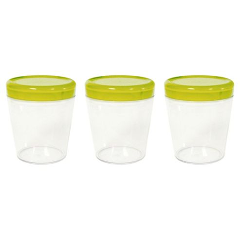 Omada Set of 3 0.75L Dune Storage Jars, Green