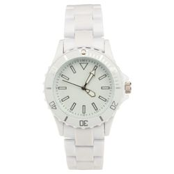 White Plastic Fashion Watch