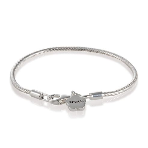 Truth Cutie Sterling Silver Drop Flower Bracelet, 15cm