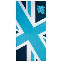 Union Jack Beach Towel, Blue