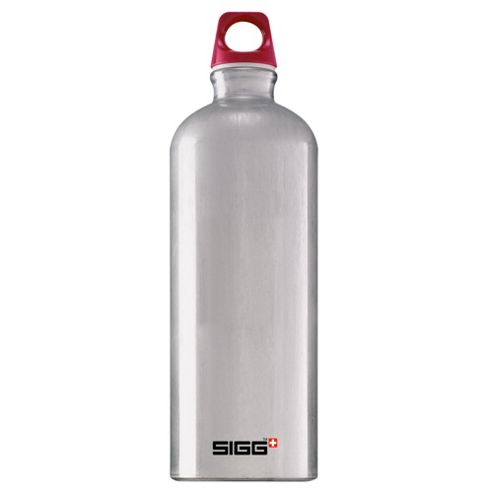 SIGG Traveller Classic Aluminium Drinking Water Bottle, 1L Silver