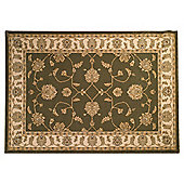 Tesco Rugs Tabriz Traditional Rug 160X230Cm Green