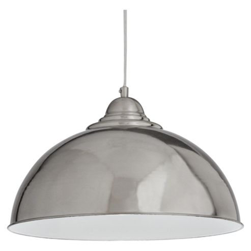 Tesco Lighting Milford Ceiling Fitting Satin Nickel