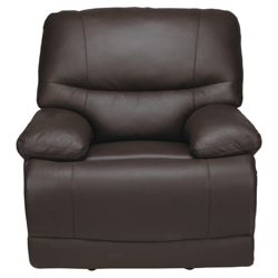 Angelo Leather Recliner Chair, Chocolate