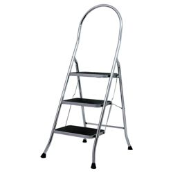 Abru 3 Tread chrome stepstool