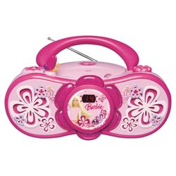 Barbie AC/DC Boombox Radio and CD Player