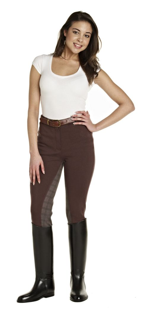 Harry Hall Ladies Nidd Jodhpurs Chocolate 34