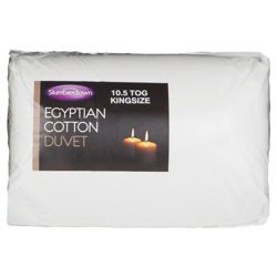 Slumberdown Egyptian Cotton Duvet, 10.5 Tog, King