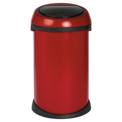 Buy brabantia 50l deep red touch bin from our bathroom - Poubelle brabantia touch bin 50l ...