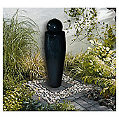 Mains black water feature with white LED lights