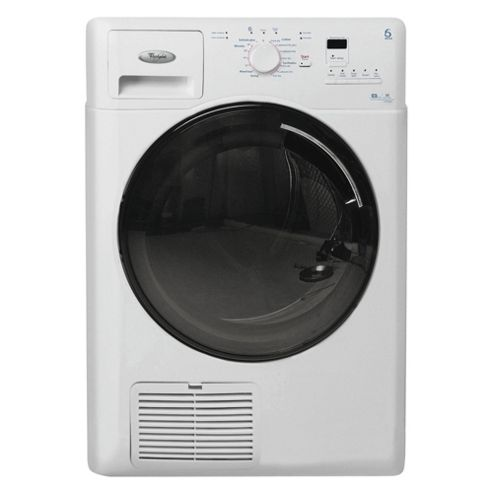 Whirlpool AZB8680 Condenser Tumble Dryer, 8kg Load, B Energy Rating. White