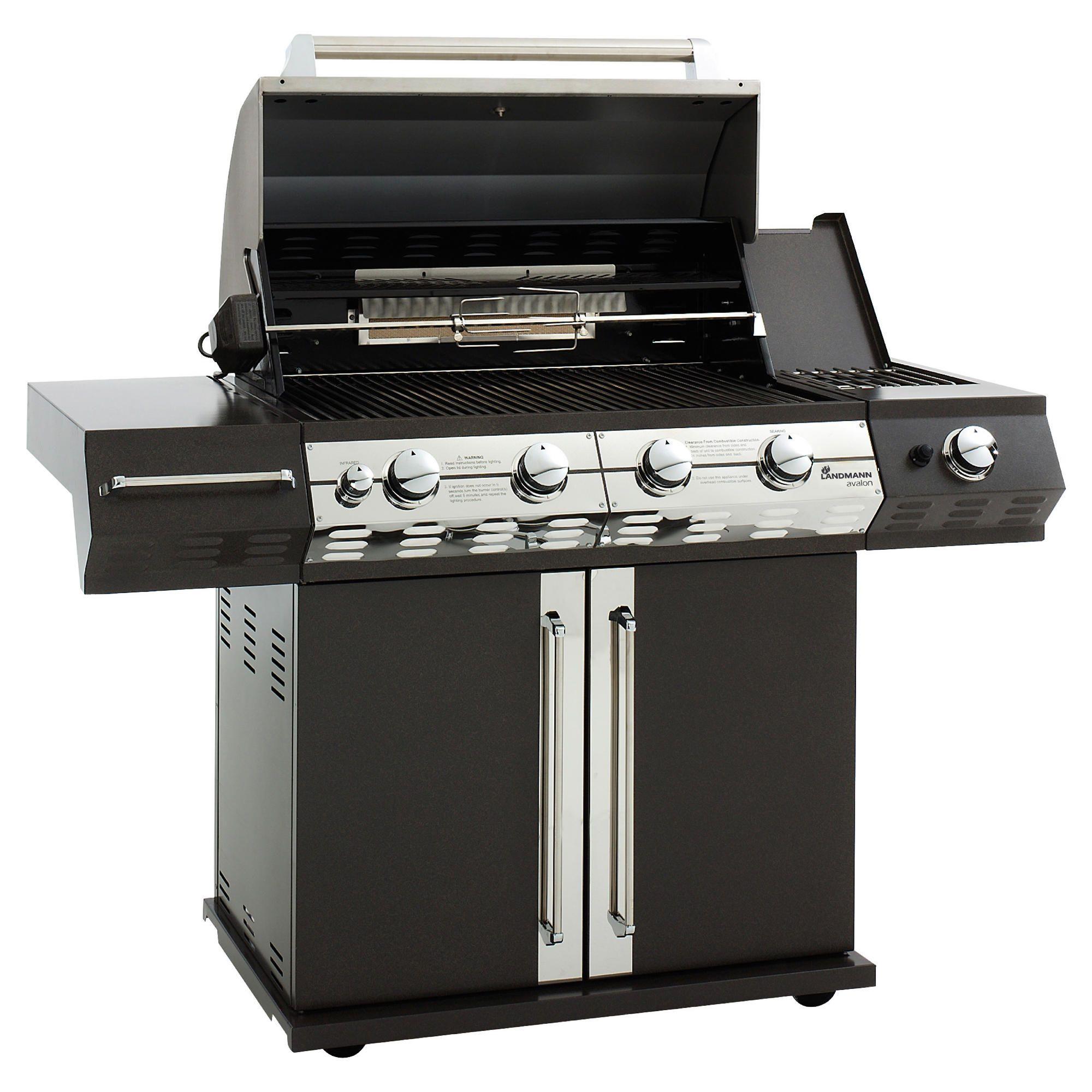 Landmann Avalon 4 Burner Gas BBQ with Rotissere at Tescos Direct
