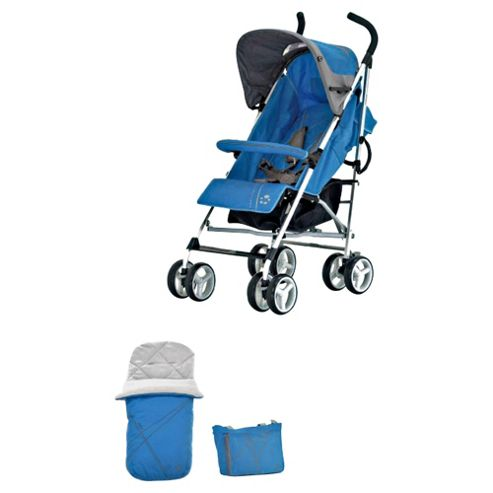 Petite Star Zukoo Pushchair, Footmuff & Change Bag, Lagoon Blue
