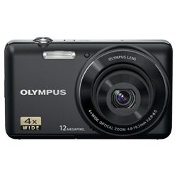 Olympus D-700 Digital Camera - Black (12MP, 4x Optical Zoom) 2.7 inch LCD