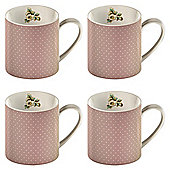 Katie Alice Pink Spot Set of 4 Can Mugs