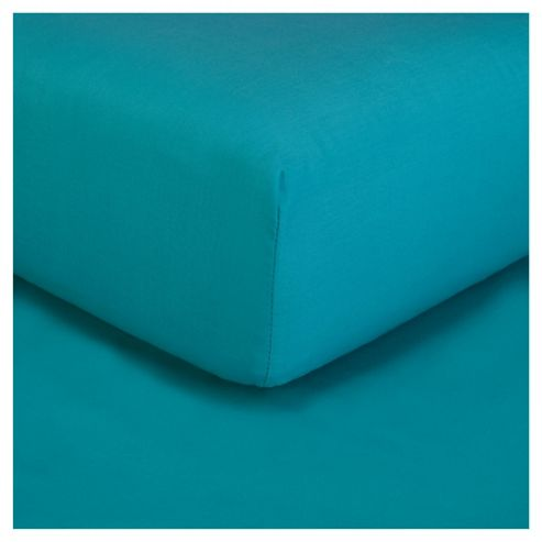 Tesco fitted sheet double - Bright Teal
