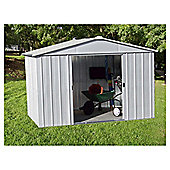 Yardmaster 9'4x12'8 Silver  Metal Apex Shed with floor support frame