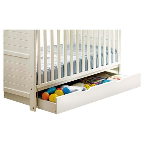 Saplings Rollerway Drawer, White