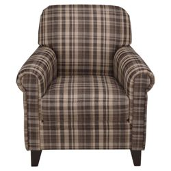 Maurice Fabric Chair, Chocolate Check
