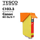 Tesco BCI3/6 Yellow Printer Ink Cartridge (for Canon BCI-3/6 Yellow )