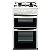 Beko DVG592WP 50cm Gas Double Oven White