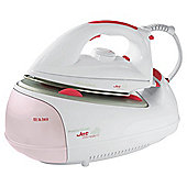 Morphy Richards 42271SS Steam Generator with Stainless Steel Plate - White/Pink